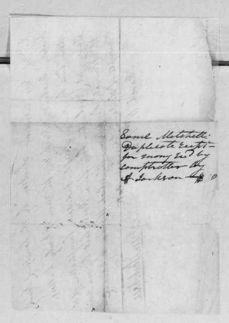 Samuel Mitchell to Andrew Jackson, March 11, 1825