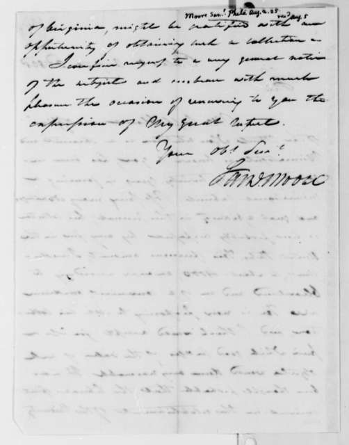Samuel Moore to Thomas Jefferson, August 2, 1825