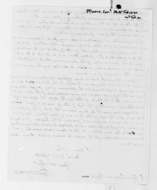 Samuel Moore to Thomas Jefferson, February 14, 1825