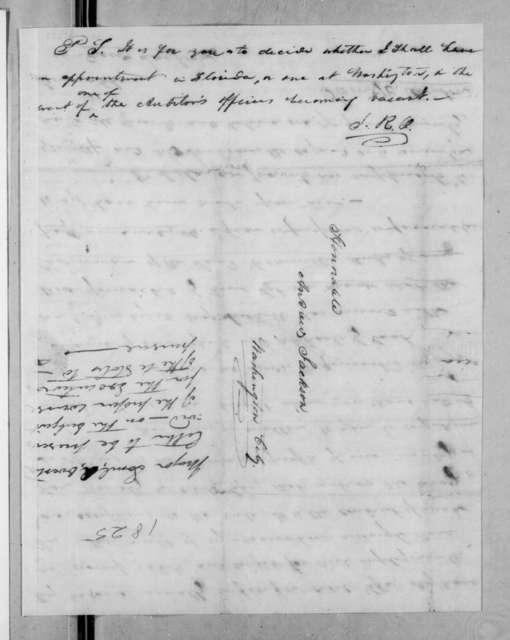 Samuel Ragland Overton to Andrew Jackson, January 28, 1825