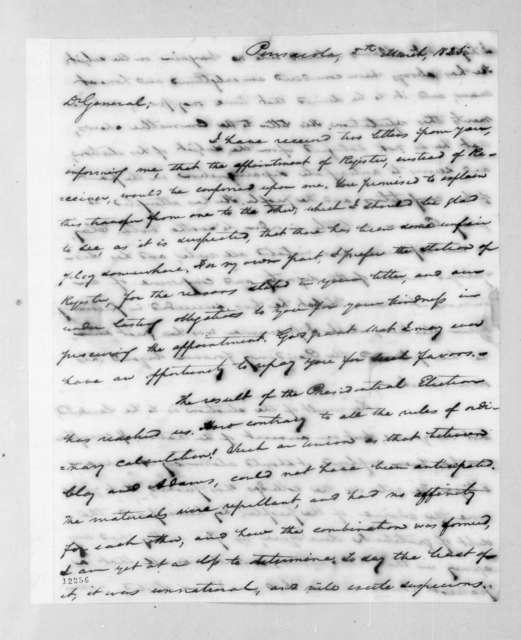 Samuel Ragland Overton to Andrew Jackson, March 5, 1825