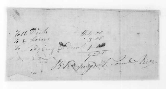 Samuel Sliver to Andrew Jackson, March 16, 1825
