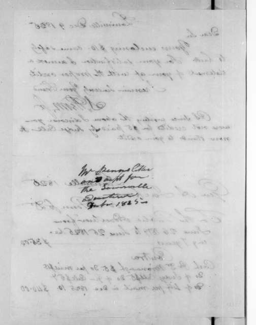 Shadrach Penn, Jr. to Andrew Jackson, December 9, 1825