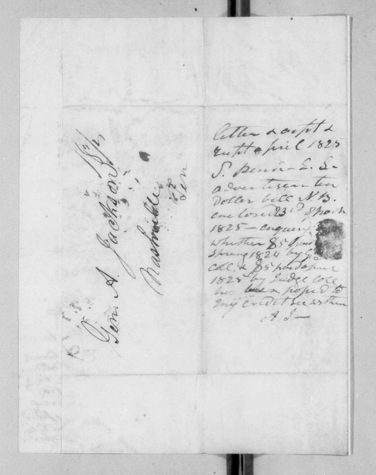 Shadrach Penn, Jr. to Andrew Jackson, November 14, 1825