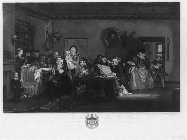 The reading of a will / engraved by John Burnet ; painted by David Wilkie, R.A.