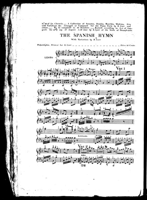 The  Spanish hymn, with variations