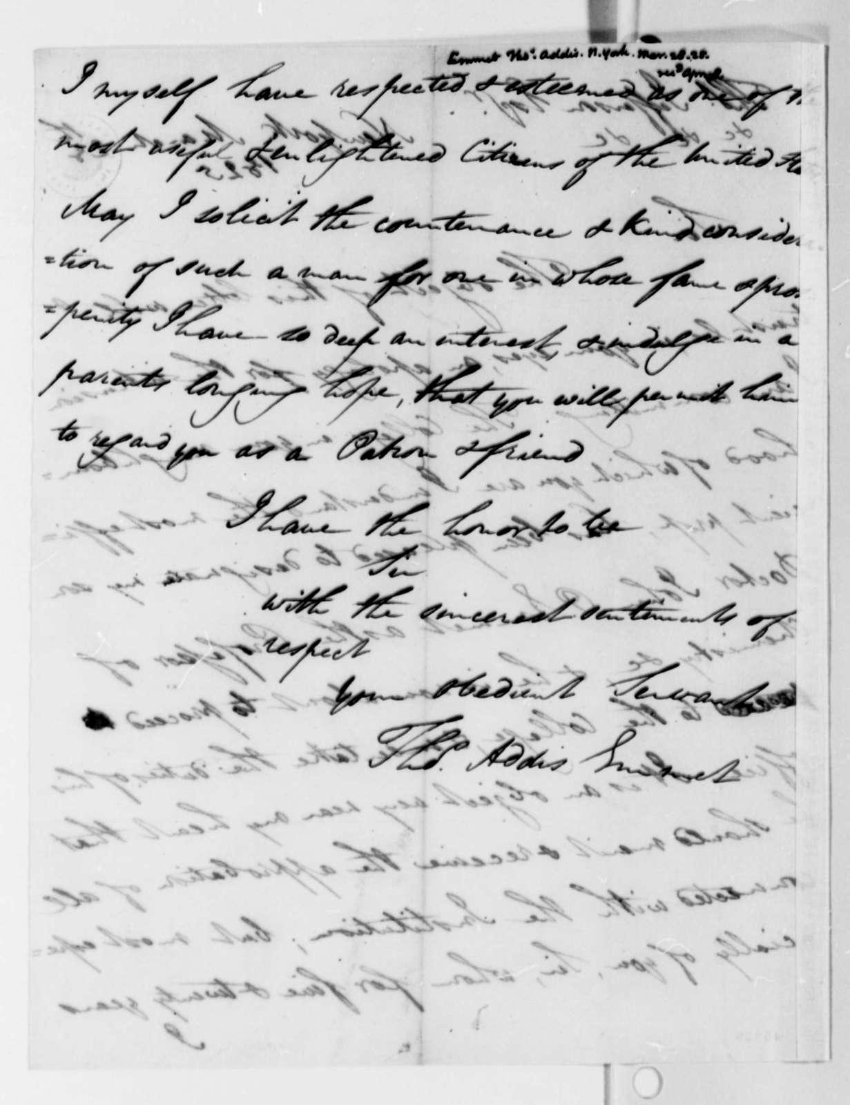 Thomas Addis Emmet to Thomas Jefferson, March 28, 1825