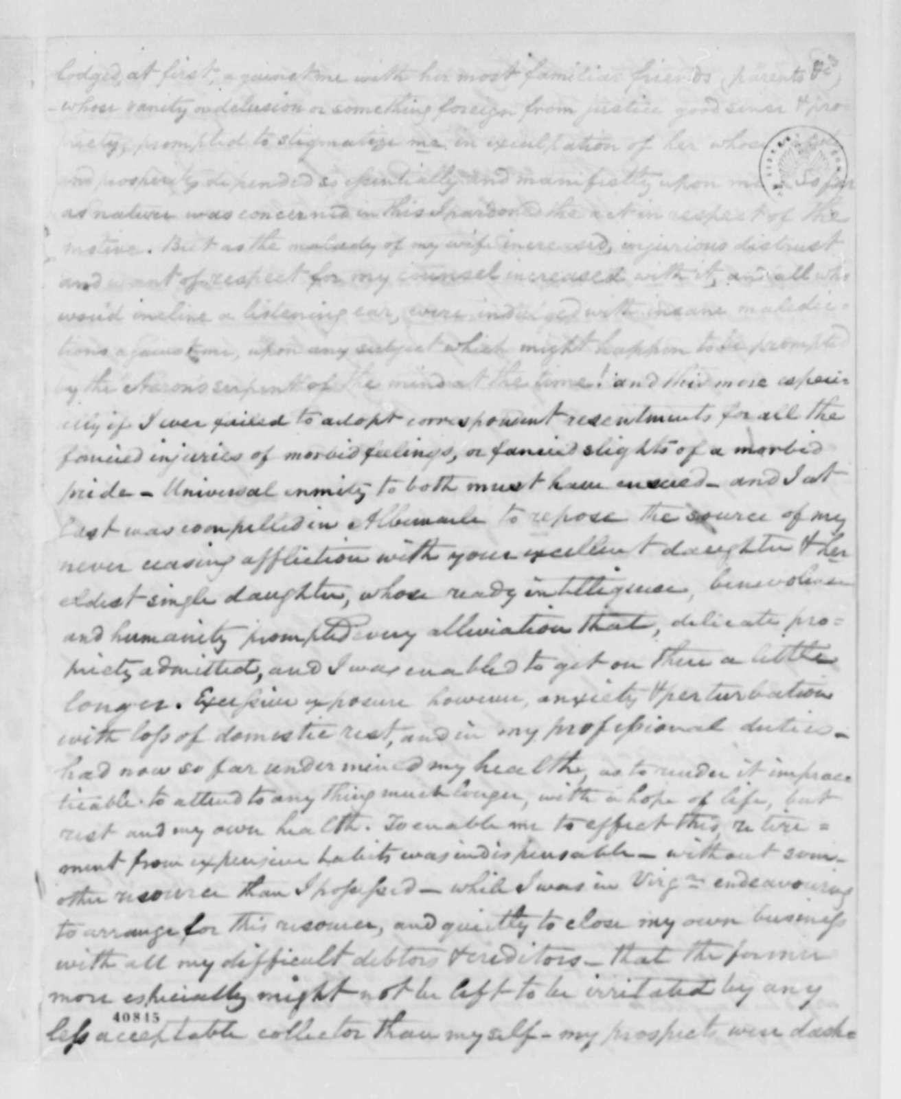 Thomas G. Watkins to Thomas Jefferson, February 12, 1825