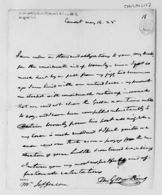 Thomas G. Watkins to Thomas Jefferson, May 14, 1825