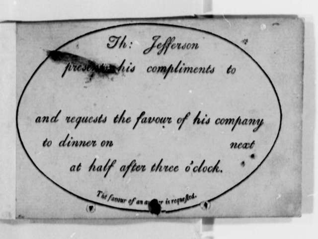 Thomas Jefferson, December 22, 1825, Stage Travel Timetable