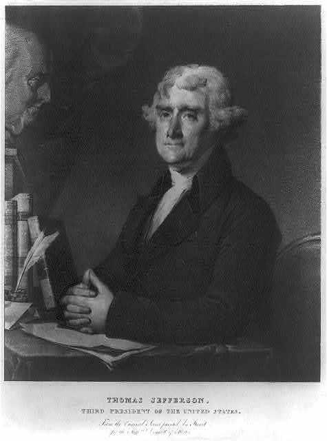 Thomas Jefferson, third president of the United States