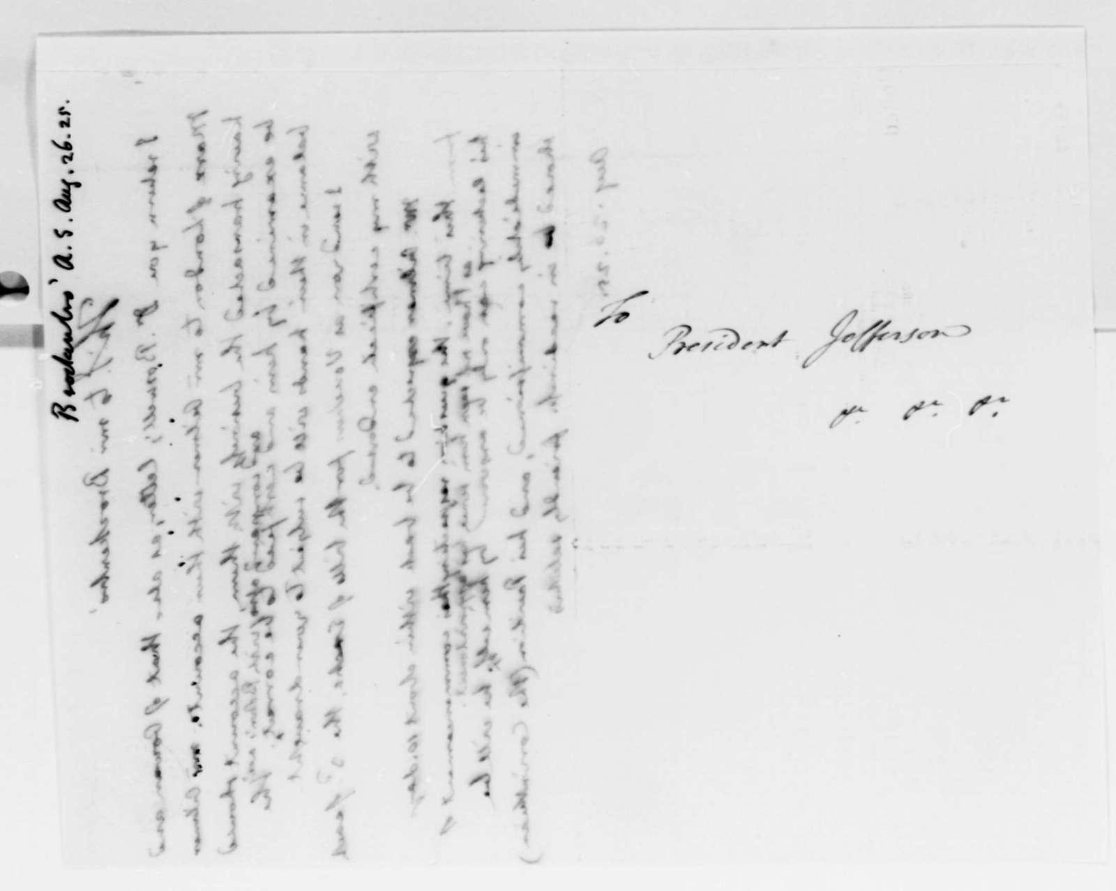 Thomas Jefferson to Arthur S. Brockenbrough, August 26, 1825