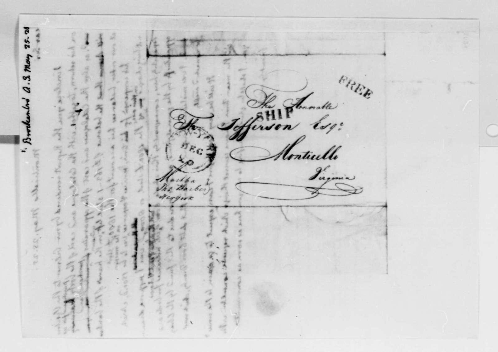 Thomas Jefferson to Arthur S. Brockenbrough, May 25, 1825