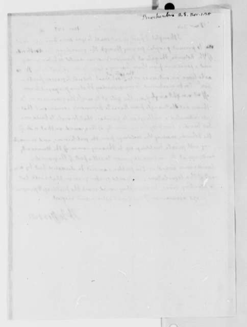 Thomas Jefferson to Arthur S. Brockenbrough, November 1, 1825