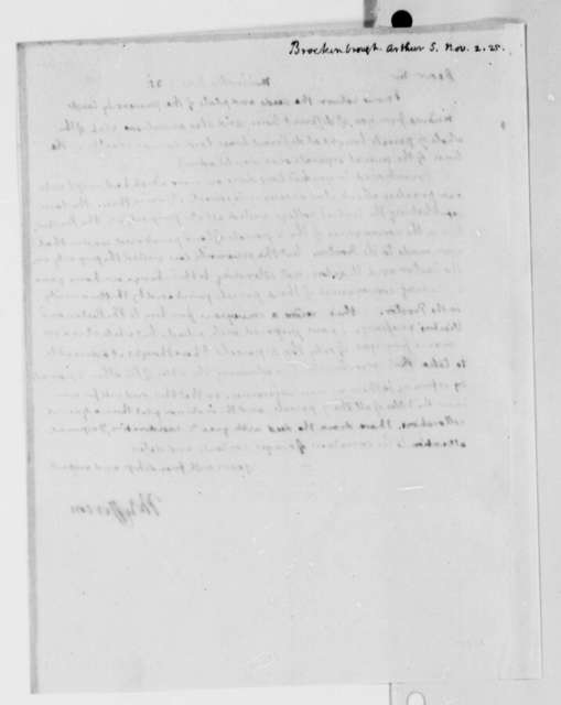 Thomas Jefferson to Arthur S. Brockenbrough, November 2, 1825