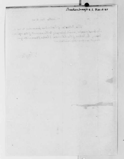 Thomas Jefferson to Arthur S. Brockenbrough, November 8, 1825