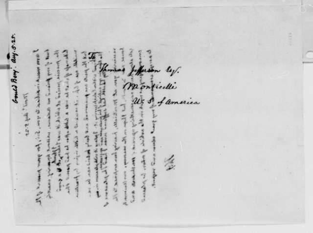 Thomas Jefferson to Benjamin A. Gould, August 5, 1825
