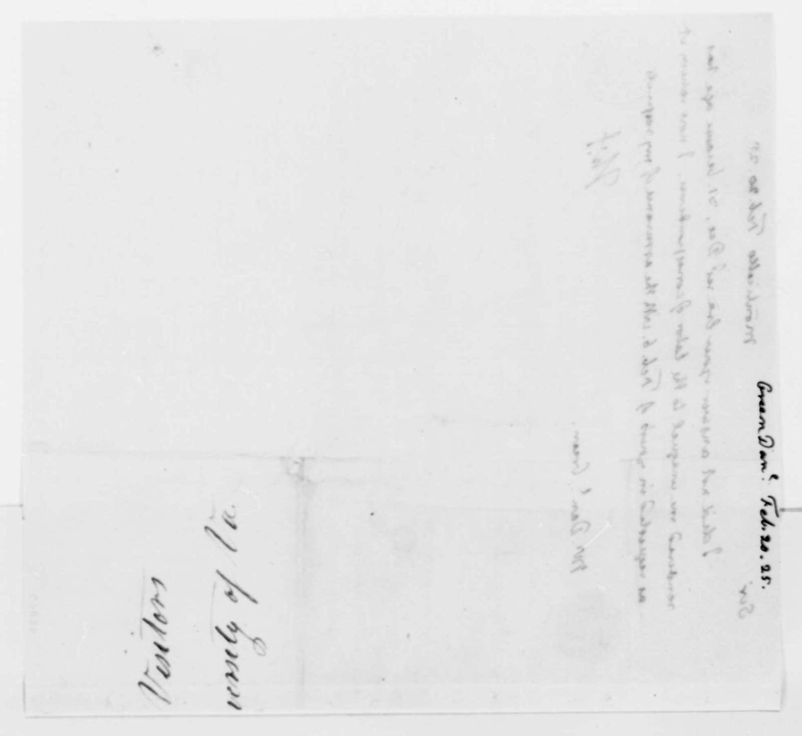 Thomas Jefferson to Daniel L. Green, February 20, 1825