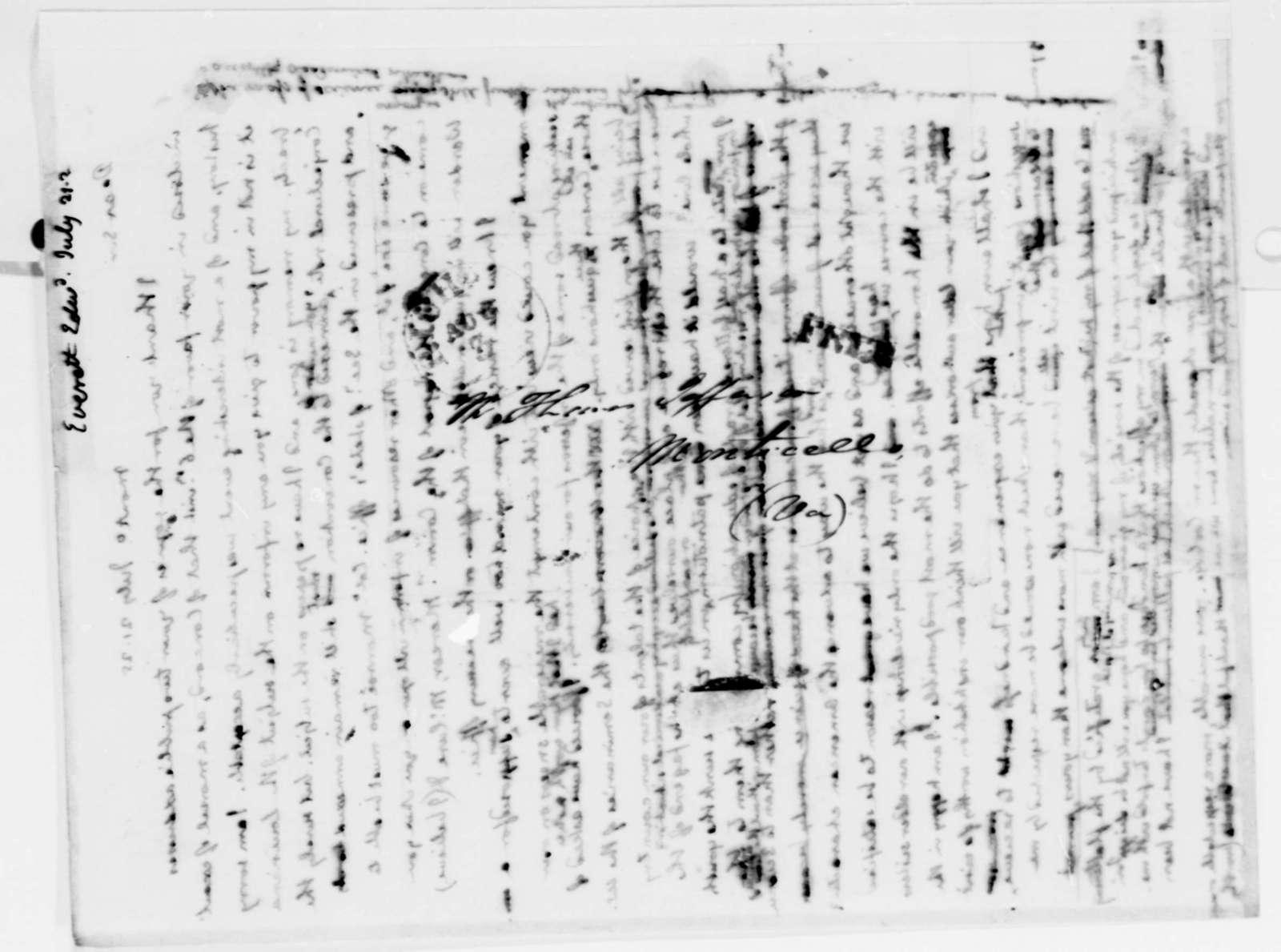Thomas Jefferson to Edward Everett, July 21, 1825