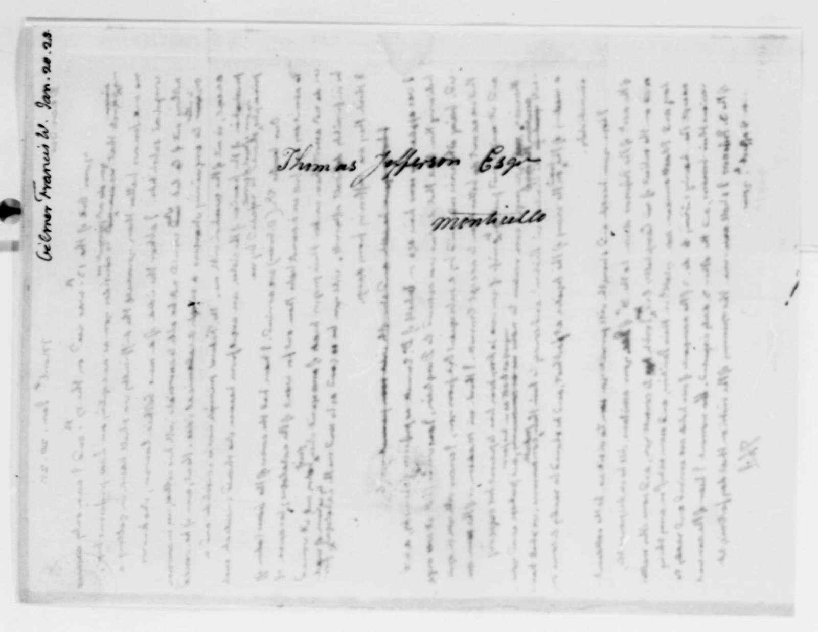 Thomas Jefferson to Francis W. Gilmer, January 20, 1825