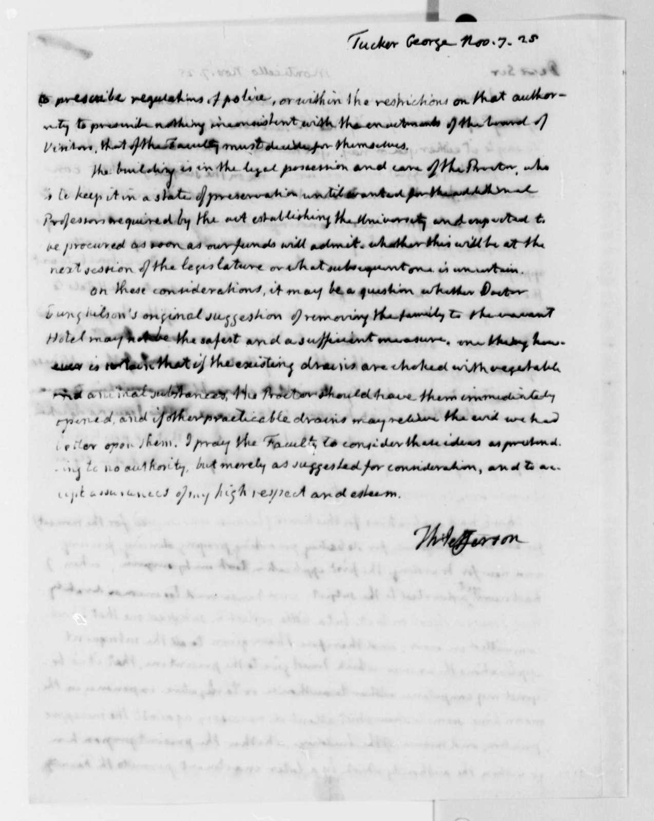 Thomas Jefferson to George Tucker, November 7, 1825