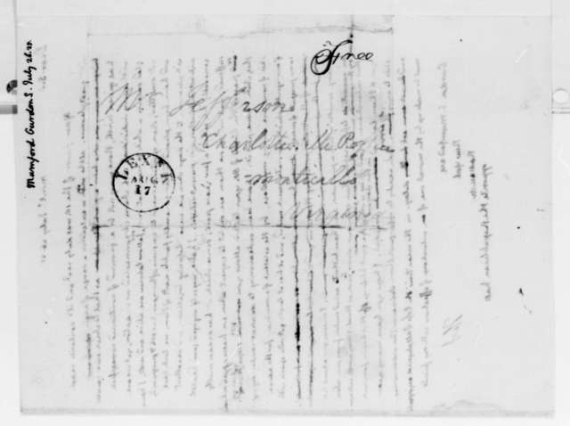 Thomas Jefferson to Gurdon S. Mumford, July 26, 1825
