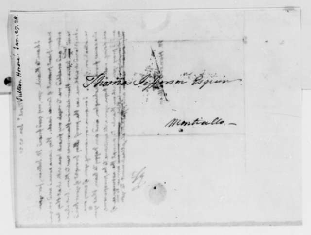 Thomas Jefferson to Honore Julien, January 27, 1825