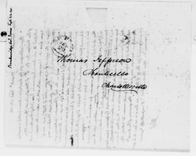 Thomas Jefferson to James Breckinridge, February 22, 1825