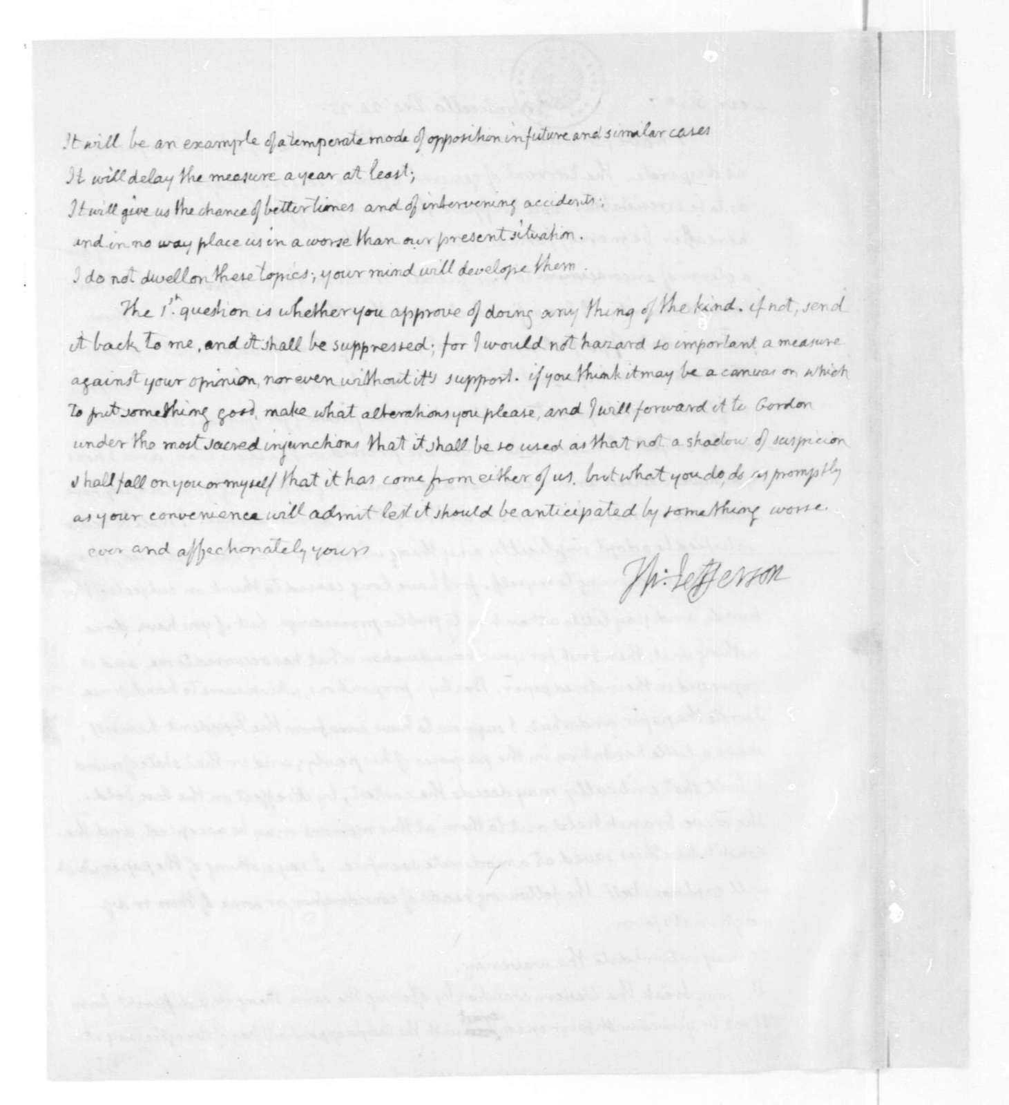 Thomas Jefferson to James Madison, December 24, 1825.