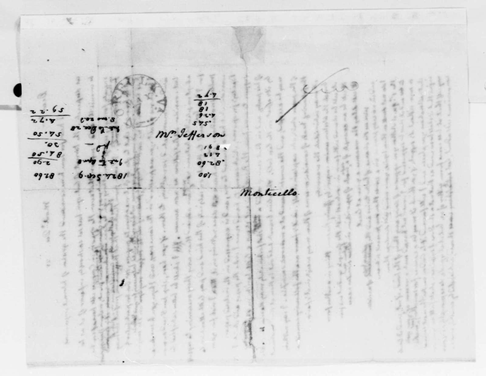 Thomas Jefferson to James Madison, December 24, 1825, with Draft