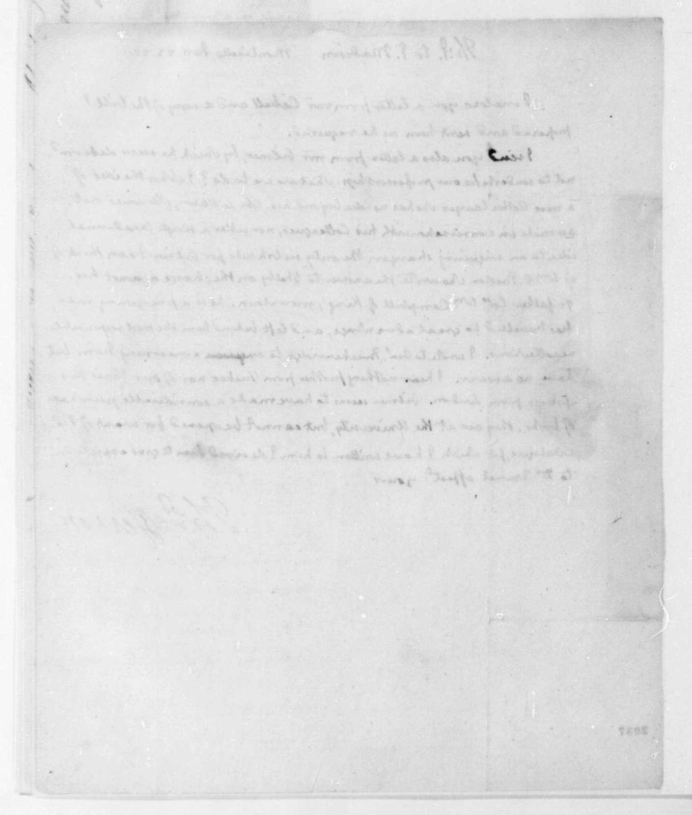 Thomas Jefferson to James Madison, January 23, 1825.