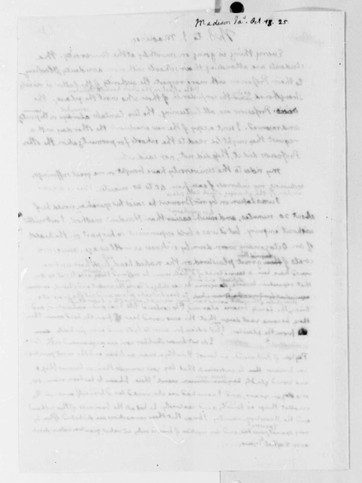 Thomas Jefferson to James Madison, October 18, 1825