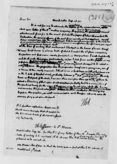 Thomas Jefferson to James Mease, September 16, 1825