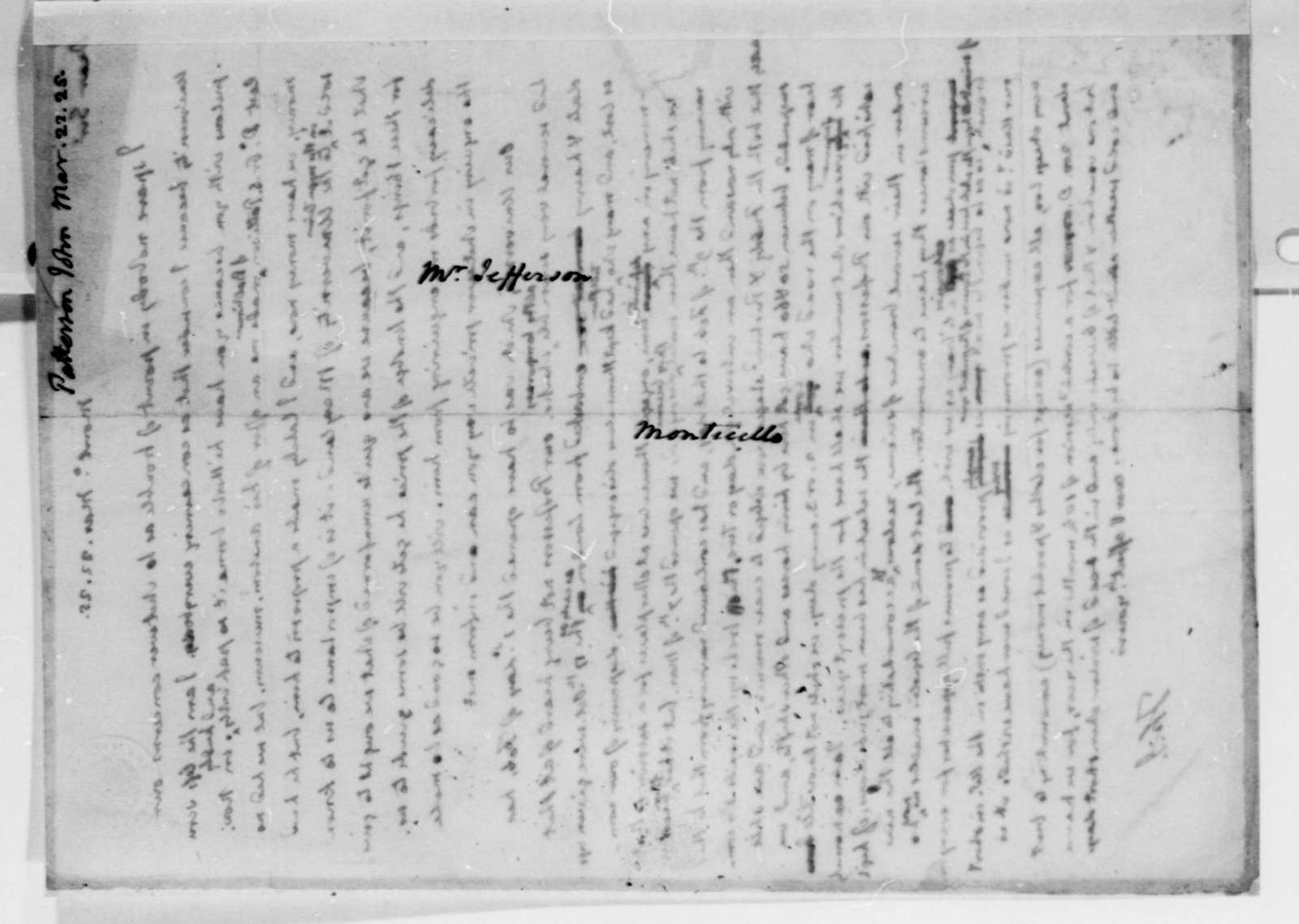 Thomas Jefferson to James Patterson, March 22, 1825