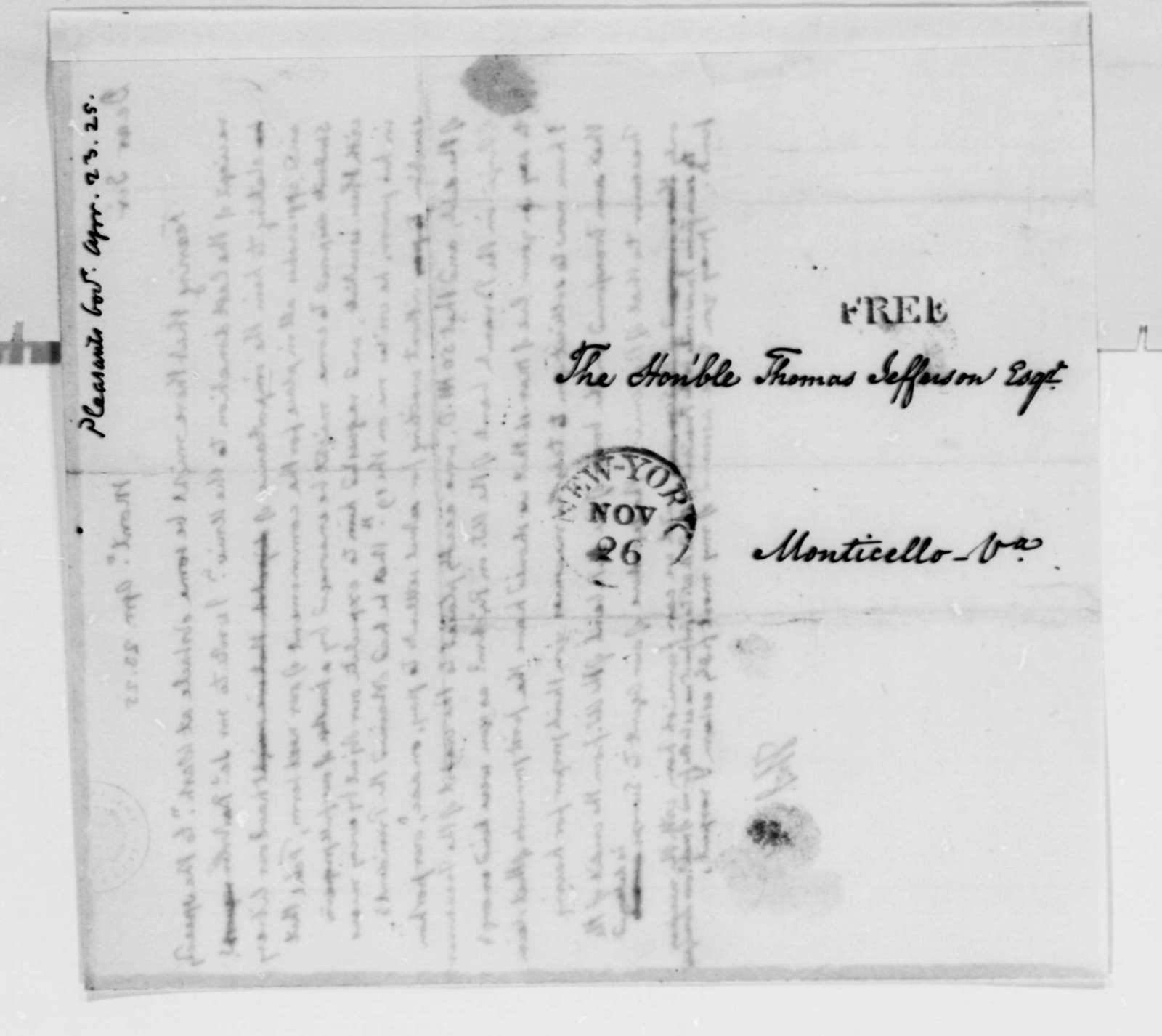 Thomas Jefferson to James Pleasants, April 23, 1825