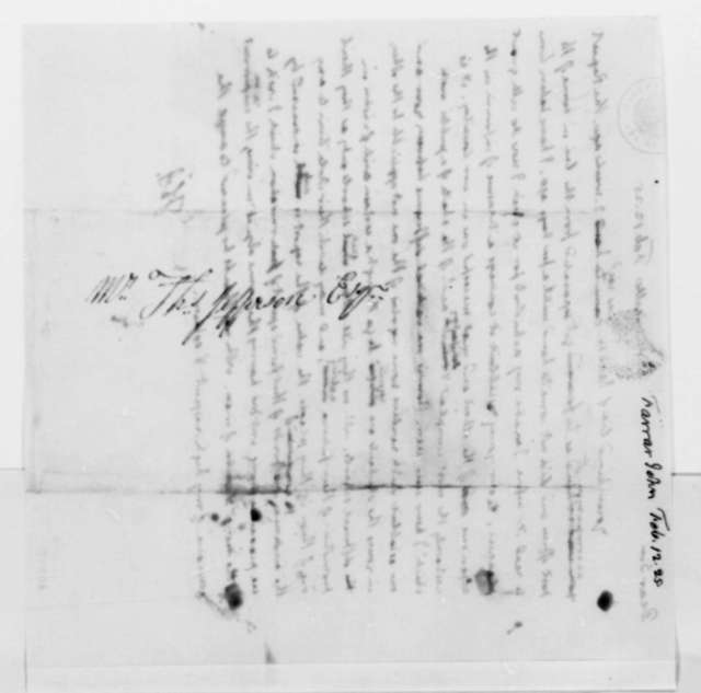 Thomas Jefferson to John Farrar, February 12, 1825