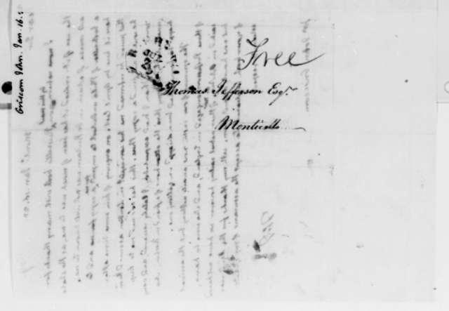 Thomas Jefferson to John Griscom, January 16, 1825