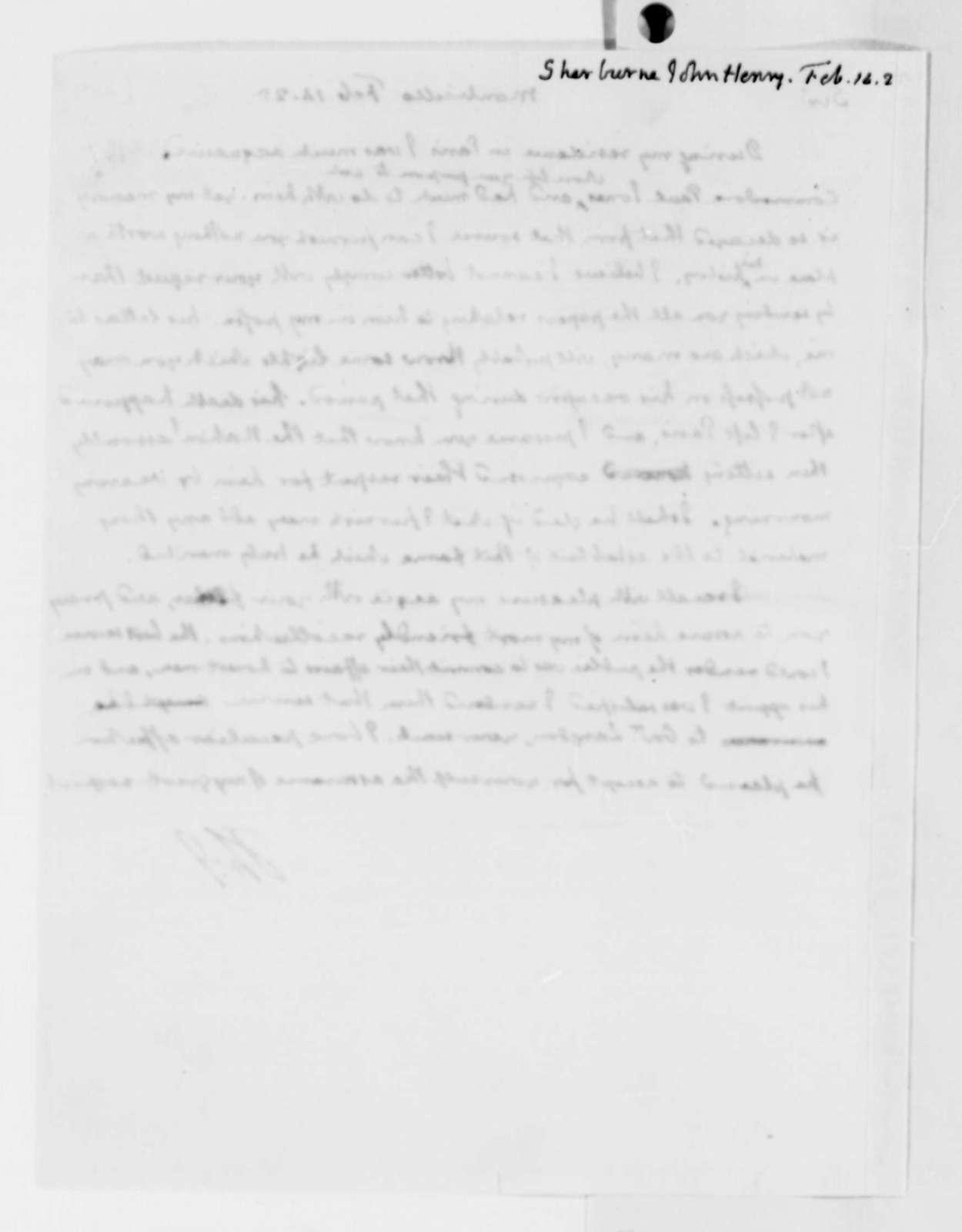 Thomas Jefferson to John Henry Sherburne, February 14, 1825