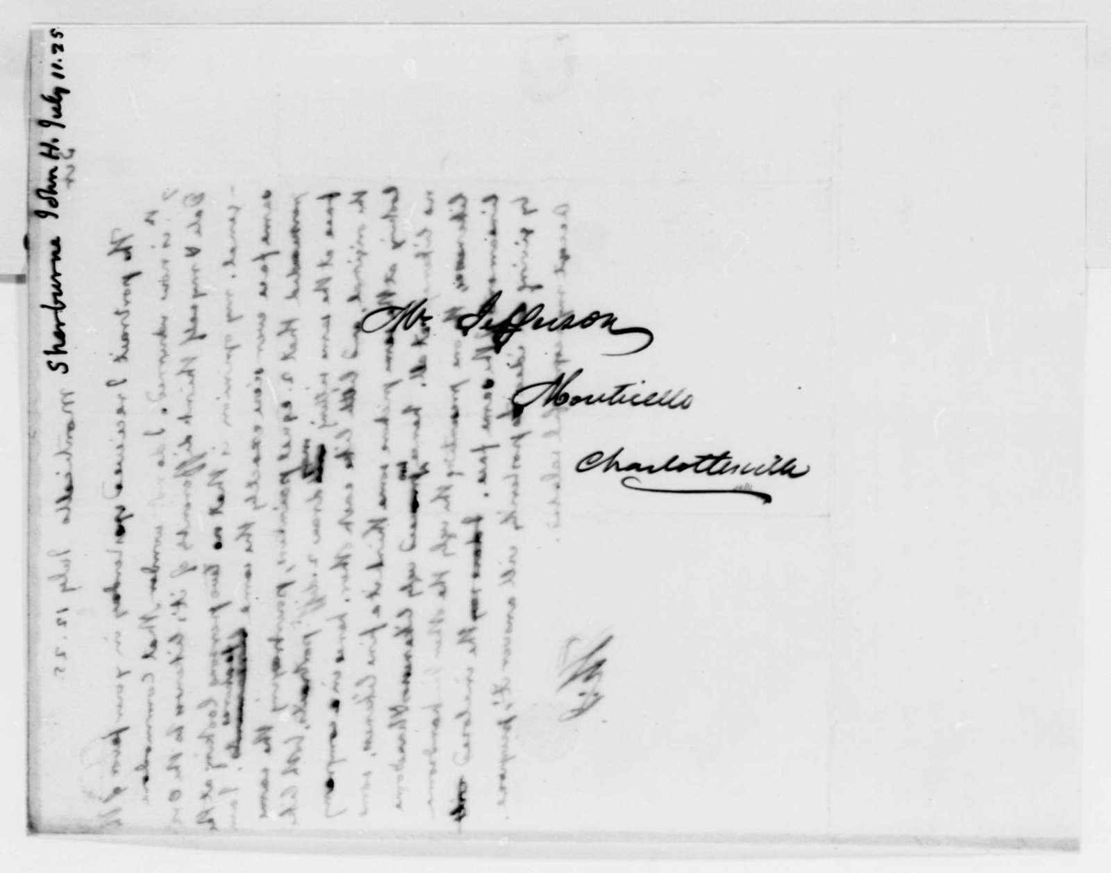 Thomas Jefferson to John Henry Sherburne, July 12, 1825