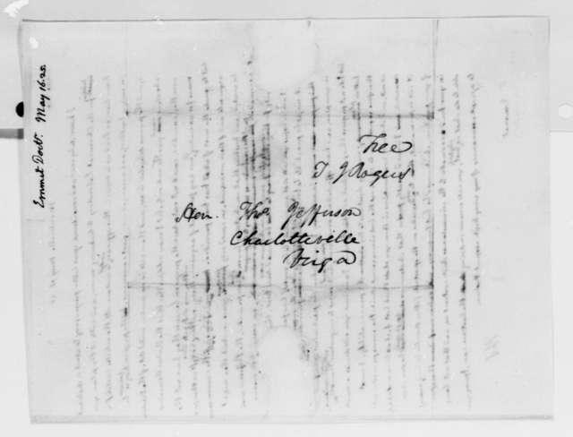 Thomas Jefferson to John Patten Emmet, May 16, 1825