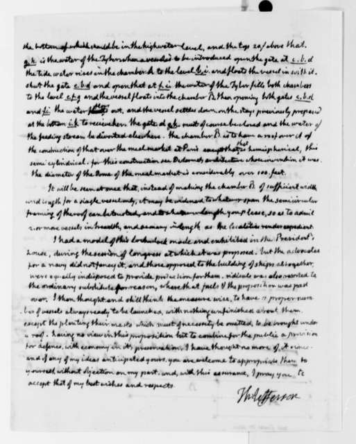 Thomas Jefferson to Lewis M. Wiss, November 27, 1825, with Drawing