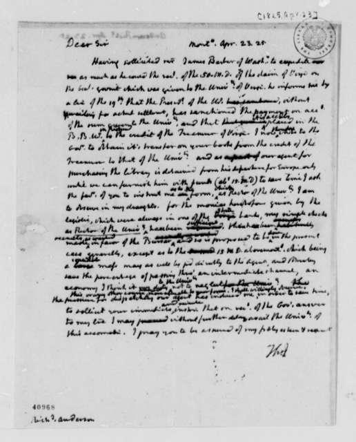 Thomas Jefferson to Richard Anderson, April 23, 1825