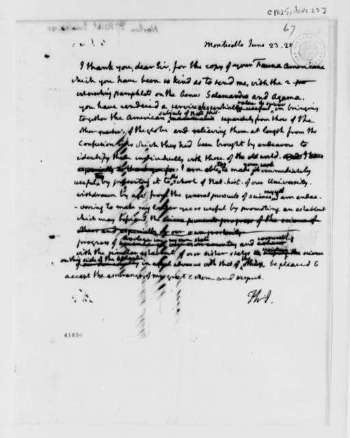 Thomas Jefferson to Richard Harlan, June 23, 1825