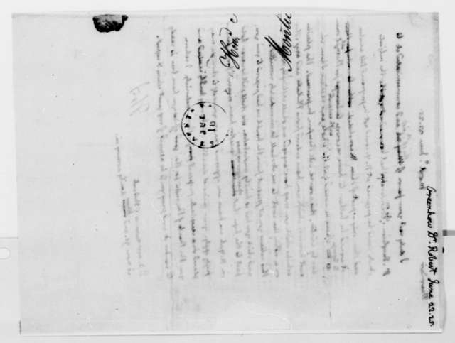 Thomas Jefferson to Robert Greenhow, June 22, 1825
