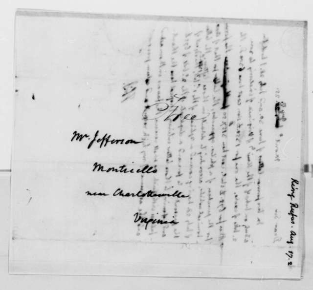 Thomas Jefferson to Rufus King, August 17, 1825