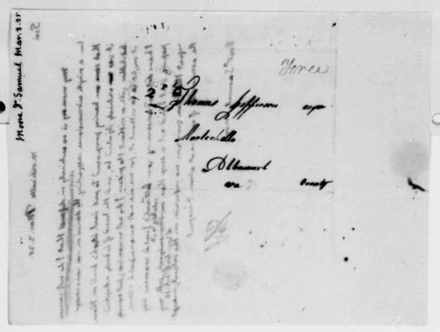 Thomas Jefferson to Samuel Moore, March 3, 1825
