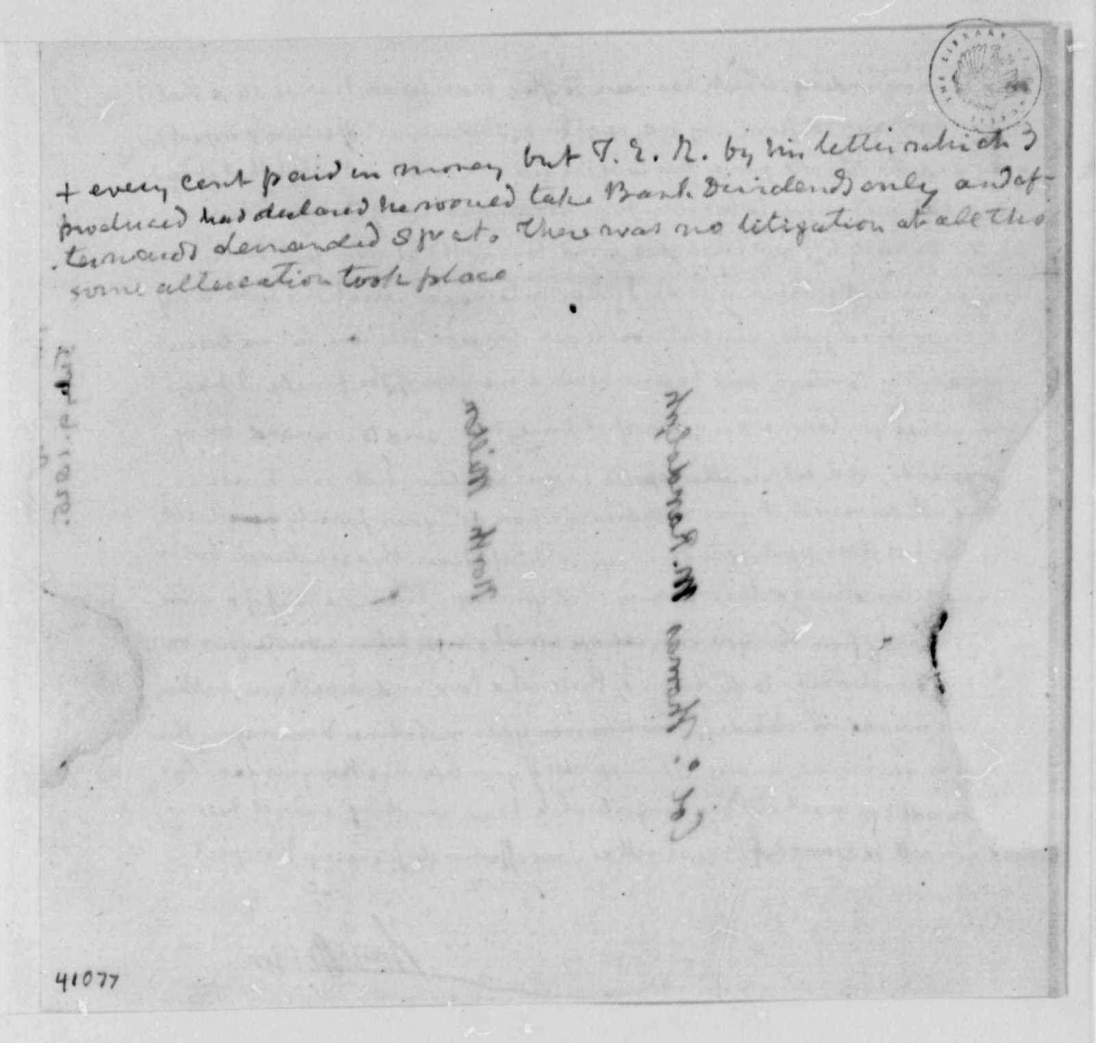 Thomas Jefferson to Thomas Mann Randolph, Jr., July 9, 1825, with Note