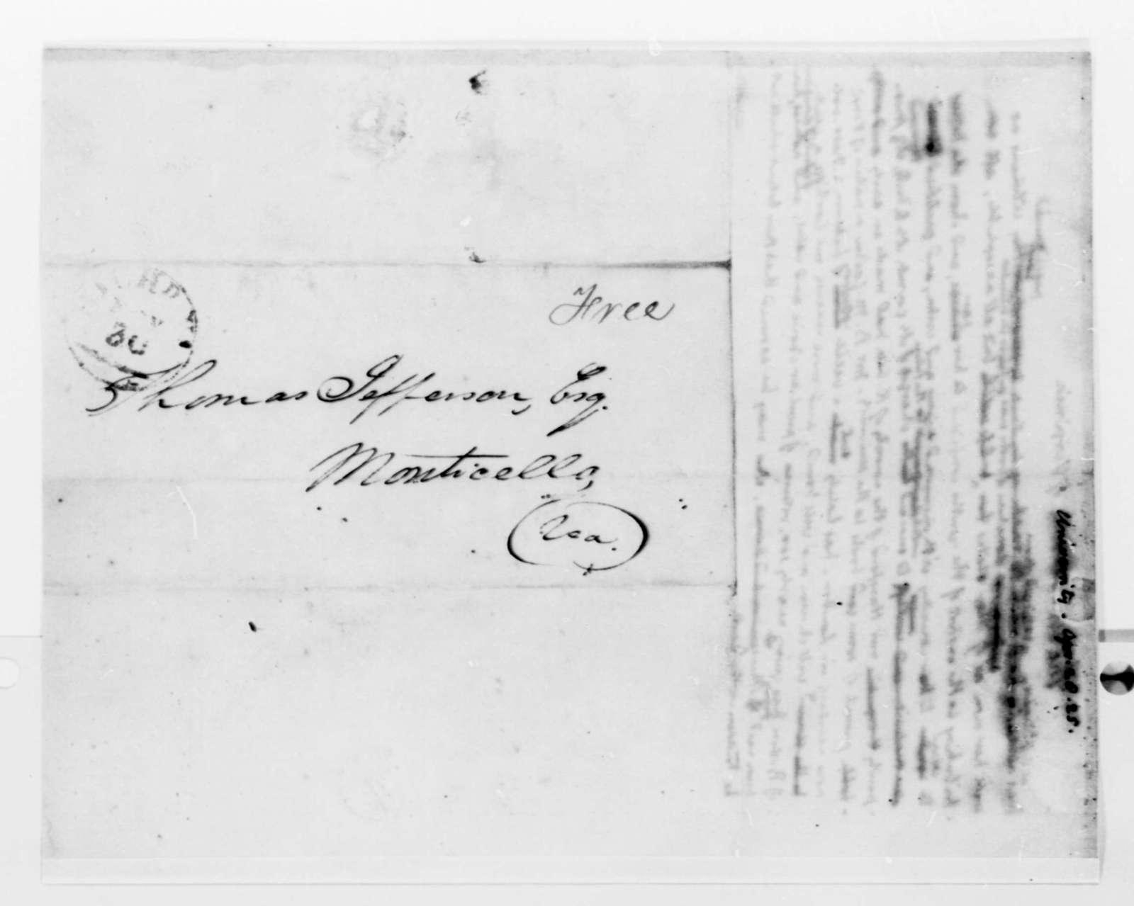 Thomas Jefferson to University of Virginia, April 28, 1825, Donated Books