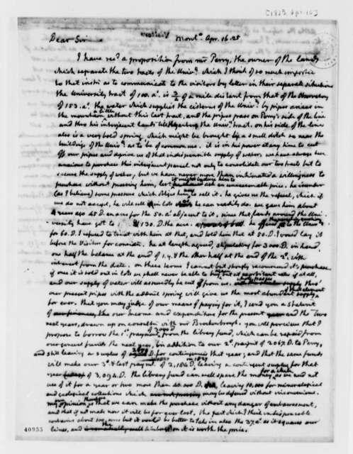Thomas Jefferson to University of Virginia Board of Visitors, April 16, 1825, Circular