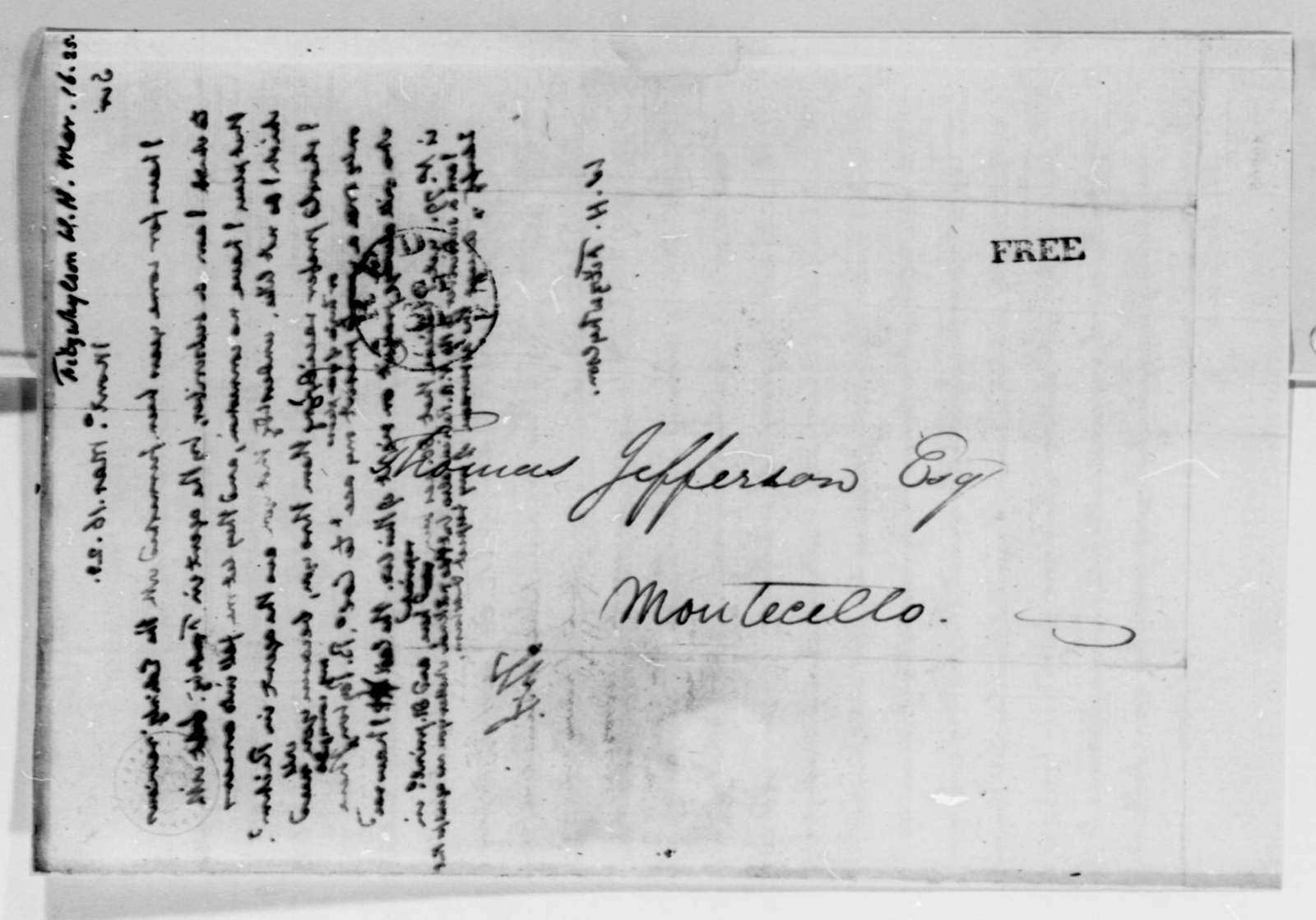 Thomas Jefferson to William A. Fitzwhylson, March 16, 1825